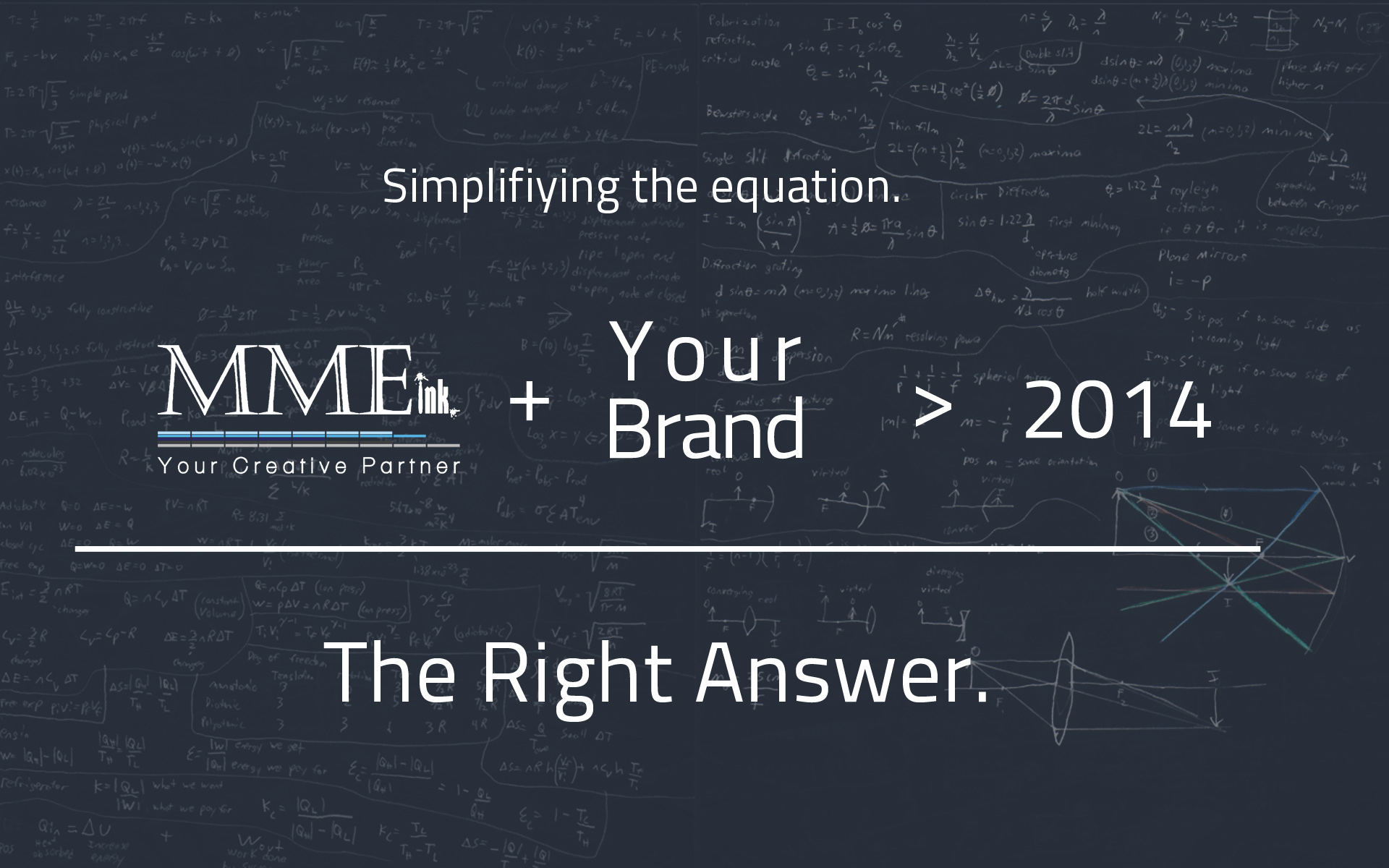 The Right Answer… MMEink with You in 2014