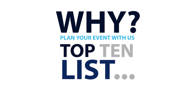 2016 Summer Event Planning Top Ten List