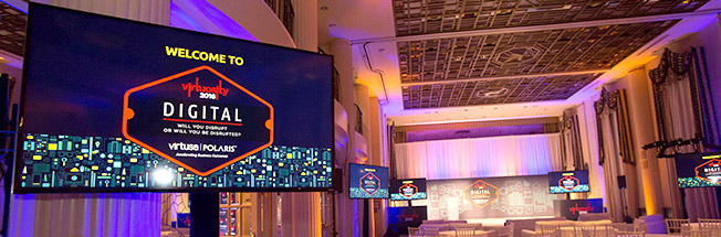 Audio Visual, AV Technicians, Staging Services provided for corporate miami event