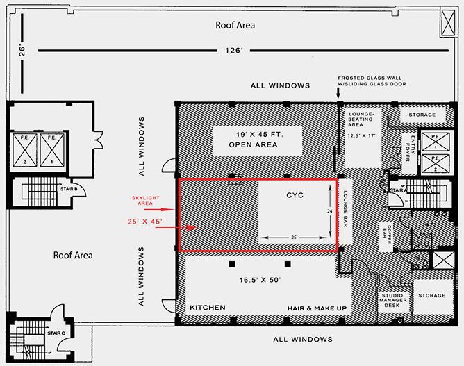 Go Studios Penthouse floorplan