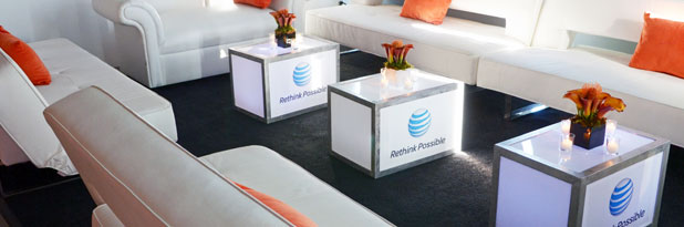 Custom design service provided for AT&T event in New York City