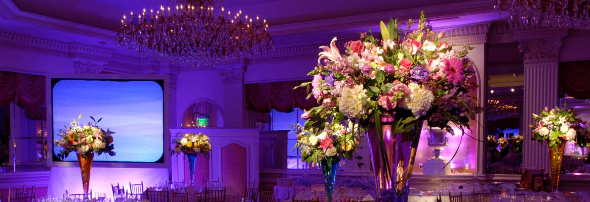 Custom Professional lighting services will truly give your NYC Sweet 16 event the atmospheric quality you're looking for