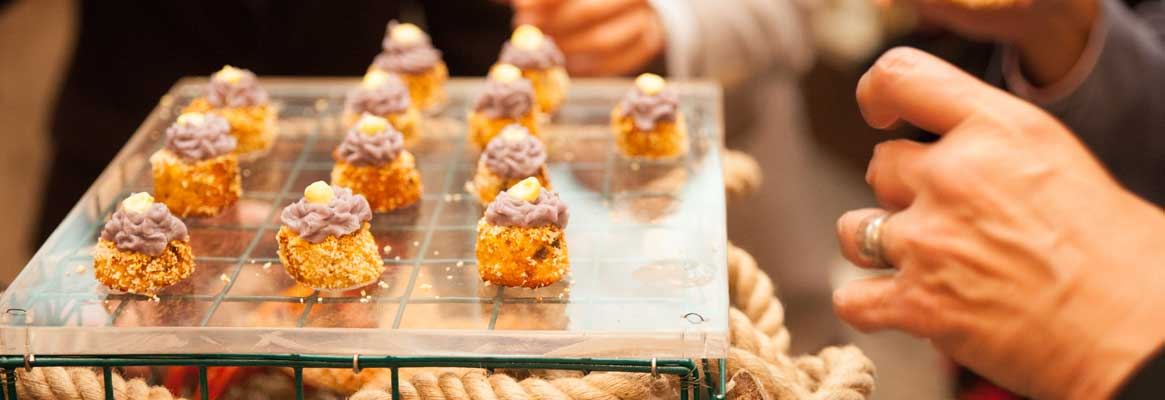 Delectable delicious appetizers, small plates and entrees for NYC Weddings
