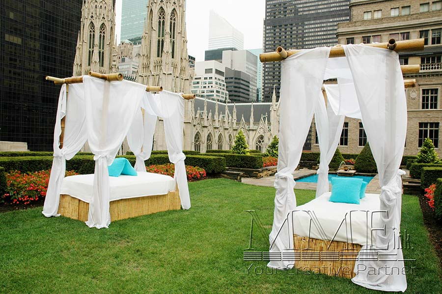 ... Outdoor furniture rentals provides a sense of luxury comfort to thie  rooftop nyc event ... - Event Rentals In New York Lounge Furniture, Props & Games MMEink