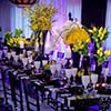 Floral designs and centerpieces featured in an elegant manner for NYC Sweet 16