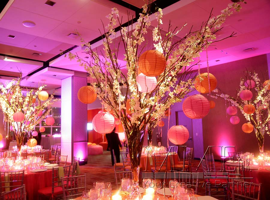Sweet 16 event planning music and rentals mmeink new york for Flower arrangements for sweet 16