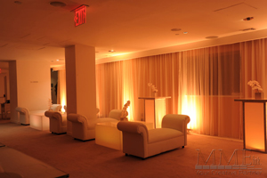 Amber up lighting hudson hotel NYC