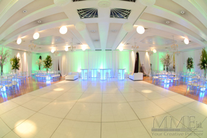 White Dance floor at modern event