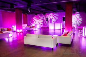 White Modern Lounge Furniture Rental