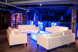 White furniture rental available for events