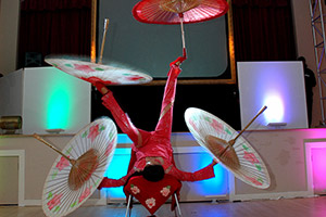 Bar Mitzvah exotic spinning fan performer