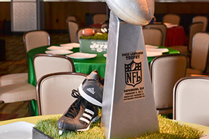 Sports theme custom centerpiece for Bar Mitzvah