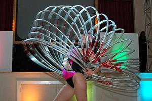 Bat Mitzvah hula hoop performer