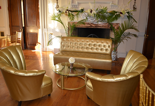 gold tufted private events