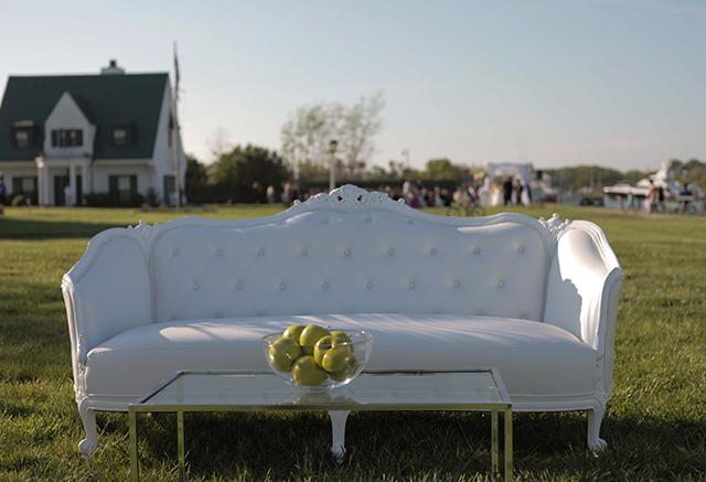 hamptons white ornate sofa wedding