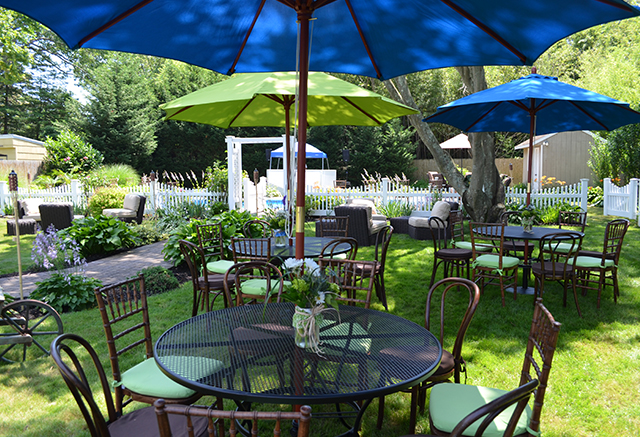 patio iron table private events