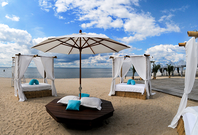 south beach front cabanas