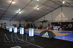 Adidas event branding