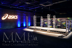 Asics custom staging event design