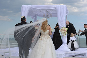 Outdoor Beach Wedding featuring Bride and Groom