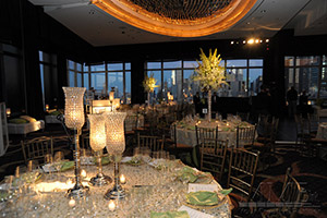 Dining decor and Event Design centerpieces for NYC Wedding