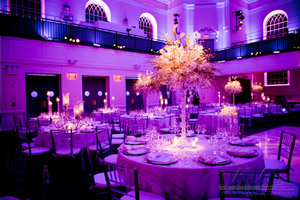 Professional Event Design with ambient lighting at NYC Wedding