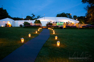 Tented outdoor wedding in Montauk, NY