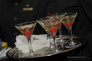 Cocktail Martini drinks on a tray for NYC Wedding
