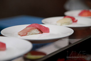 Sushi on plate for NYC Wedding