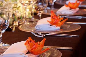 Dining set up for NYC Wedding at Mandarin Hotel