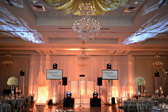 Wedding DJ performing for crowd at NYC venue hall