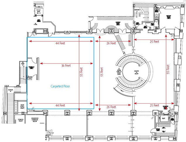 Grand Mezzanine Banking Hall Floor Plan