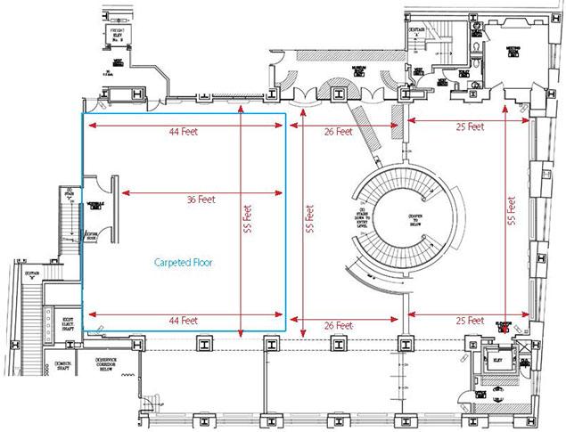 Grand Mezzanine Banking Hall Floor Plan