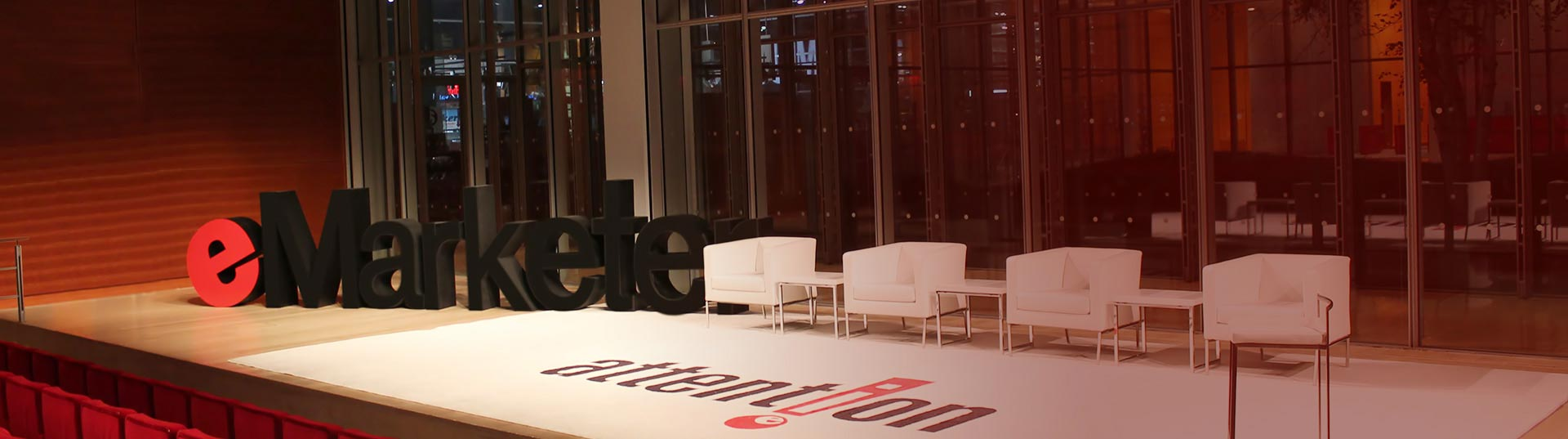 eMarketer Attention 2015 marketing conference times center meetings hospitality production fabrication and decor