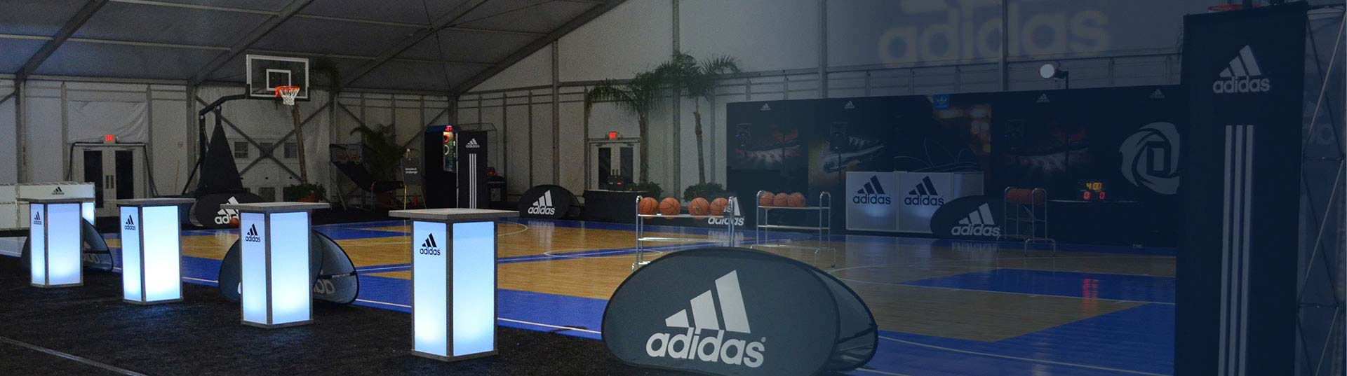 adidas engagement event custom basketball court