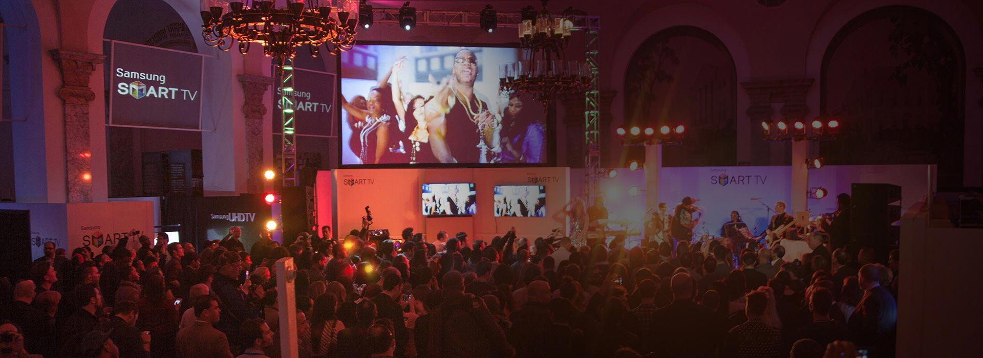 Custom Staging and Musical Entertainment Performers at Samsung Smart TV event
